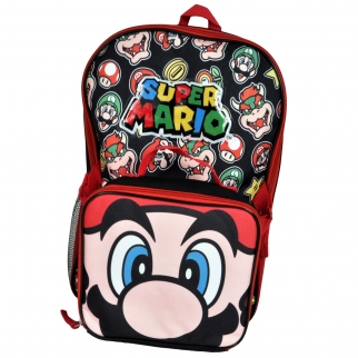 Super Mario Printed Backpack and Lunch Pack