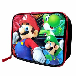 Nintendo Super Mario Bros Yoshi Kids Insulated Lunch Bag with Shoulder Strap
