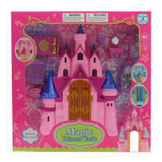 Pretend Play Princess Castle with Interactive Lights and Sounds Pink