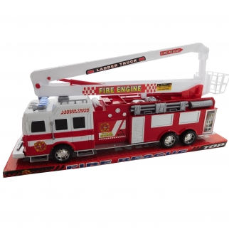 Fire Engine Red Firefighter Rescue Ladder Truck Toy Vechicle 17""