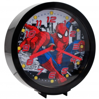 Marvel Spider-Man Dual-Function Tabletop Desk or Hanging Wall Analog Clock Kids Themed Bedroom Decor