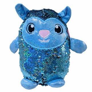 "Shimmeez 8"" Lainey Lamb Reversible Sequin Plush Stuffed Animal"