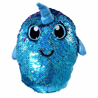 Shimmeez Arlo Narwhal Reversible Sequin Stuffed Animal