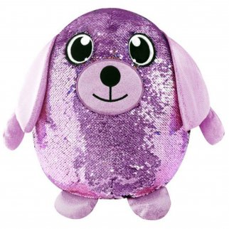 Shimmeez Delilah Dog Reversible Sequin Plush Stuffed Animal