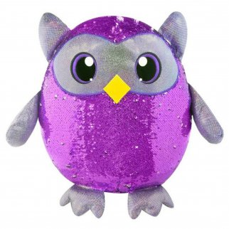 Shimmeez Oliver Owl Reversible Sequin Stuffed Animal