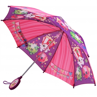 "Shopkins Girls Molded Handle Umbrella 32"" Diameter"