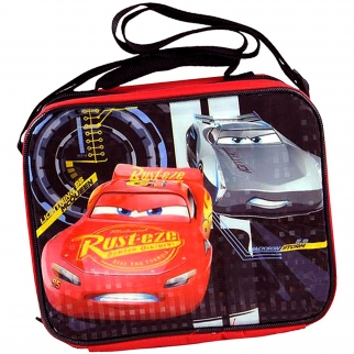 Pixar Disney Cars 3 Lightning McQueen Jackson Storm Black Lunch Bag