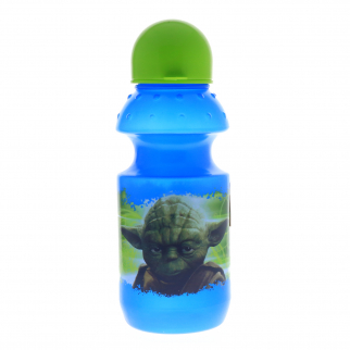 Star Wars Yoda Theme Water Bottle with Cap and Pull Top Spout 13 Ounce Volume