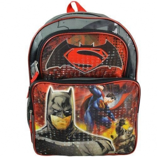 Superman vs Batman Back to School Bag Front View