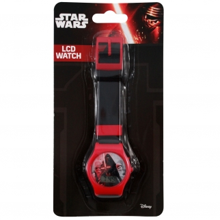Disney Star Wars Kids LCD Digital Watch Stocking Stuffer Black Retail Packaging