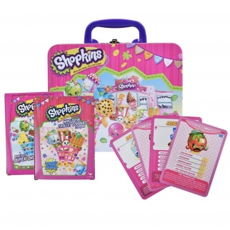 Licensed Moose Toys Shopkins Collectible Tin Lunch Box & Card Game Set