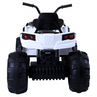 KidPlay Products Kids Ride On Sporty ATV 12V Battery Powered Rider - White