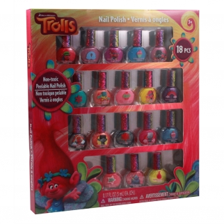 Dreamworks Trolls Dress-up 18 Piece Nail Polish Gift Set