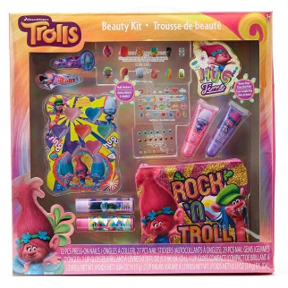 Dreamworks Trolls Girl's Dress Up and Pretend Play Ultimate Beauty Kit featuring Princess Poppy