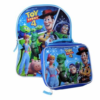 "Toy Story 4 Kids 16"" Backpack Insulated Lunch Bag Set"