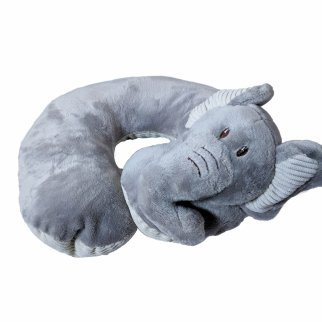 TychoTyke Baby Neck Pillow Soft Plush Grey Elephant Design