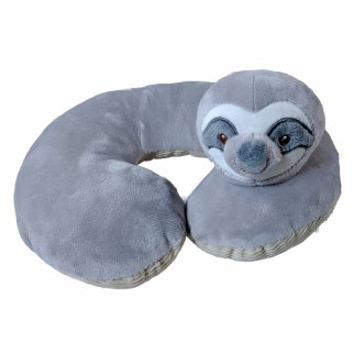 TychoTyke Baby Neck Pillow Soft Plush Grey Sloth Design