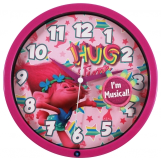 Dreamworks Trolls 8 Inch Musical Wall Clock Hugs