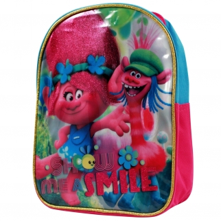 Dreamworks Trolls Princess Poppy and Cooper Show me a Smile Girls Backpack