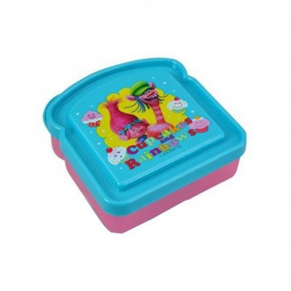 Trolls Cupcakes and Rainbows Sandwich Container Lunch Box featuring Poppy and Cooper