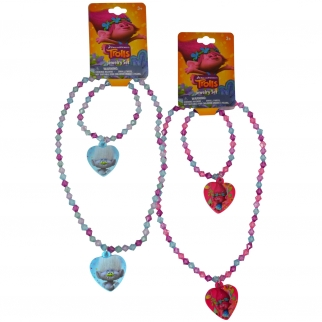 Dreamworks Trolls Jewlery Accessory Set Necklace and Bracelet Girls Dress Up