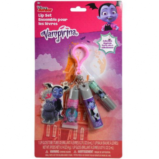 Disney Vampirina Lip Gloss Key Chain Set
