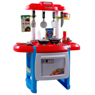Kidfun Kitchen Oven with Burners, Utensils, Pots, and Pans