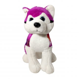 TychoTyke Stuffed Animal Husky Plush Toy Southwest Purple