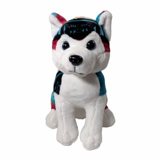 TychoTyke Stuffed Animal Husky Plush Toy Southwest Teal