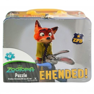 Disney Zootopia Kids Tin Lunch Box with 48pc Puzzle Gift Set