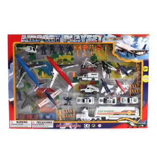 Die Cast Airport Vehicles Pretend Playset