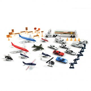 Deluxe 50pc Airport City Rescue Micro Wheels Kids Diecast Toy Car Play Set