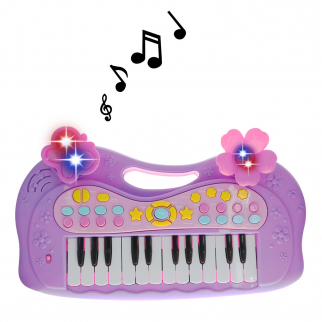 "My Little Musician Purple Electronic Musical 16"" Kids Piano Playtime Keyboard Set"