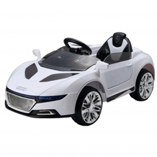 Audi Style Remote Control Super 6V Kids and Boys Ride On Sports Car Battery Powered Wheels in White