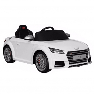 White 2017 Audi TT battery powered kids car with remote control