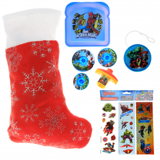 Marvel Avengers Kids Holiday Stocking Bundle Avenger Themed Toys and Gifts