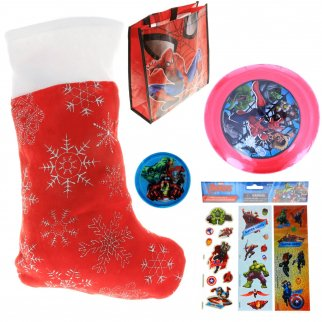 Marvel Avengers Kids Holiday Stocking Stuffer Bundle of Toys