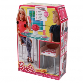 Mattel Barbie Furniture Dollhouse Dinner Date Night Playset