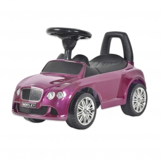 Licensed Bentley Push Kids Ride On Car in Purple