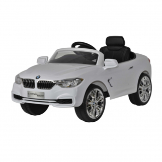 Licensed BMW 4 Series 12V Kids Battery Powered Ride On Car - White