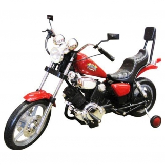 Chopper Motorcycle 6V Kids Battery Powered Ride On Car in Red