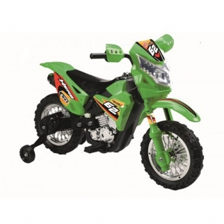 Mini Dirt Bike Motorcycle 6V Kids Battery Powered Ride On Car in Green