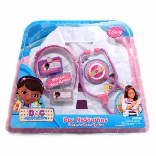 Disney Doc McStuffins Girls Doctor Dress-Up Set Size 4-6X