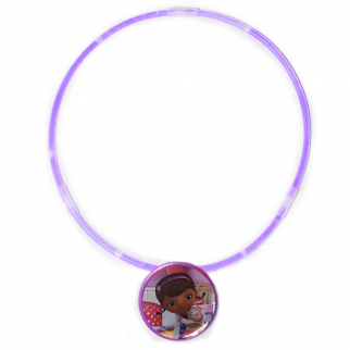 Disney Doc McStuffins Girls Sparkle Jewelry Glow Pendant Glow Stick Necklace
