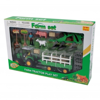 farm life barn and ranch set with farmer learning resources