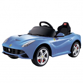 Ferrari F-12 12V Kids Battery Powered Ride On Car in Blue