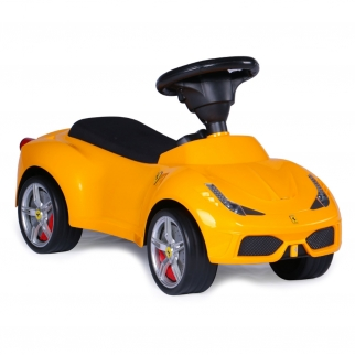 Licensed Ferrari F-12 Kids Ride On Push Car - Yellow