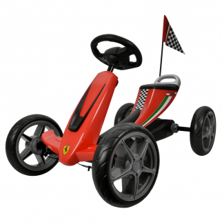 Licensed Ferrari Kids Ride On Car Go Kart - Red