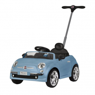 Licensed Fiat 500 Push Car Ride On for Kids - Blue