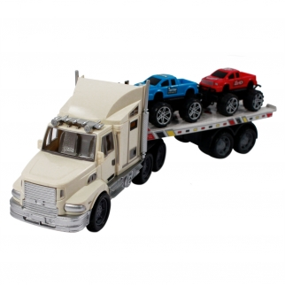 White Auto Hauler Carrier with Trucks